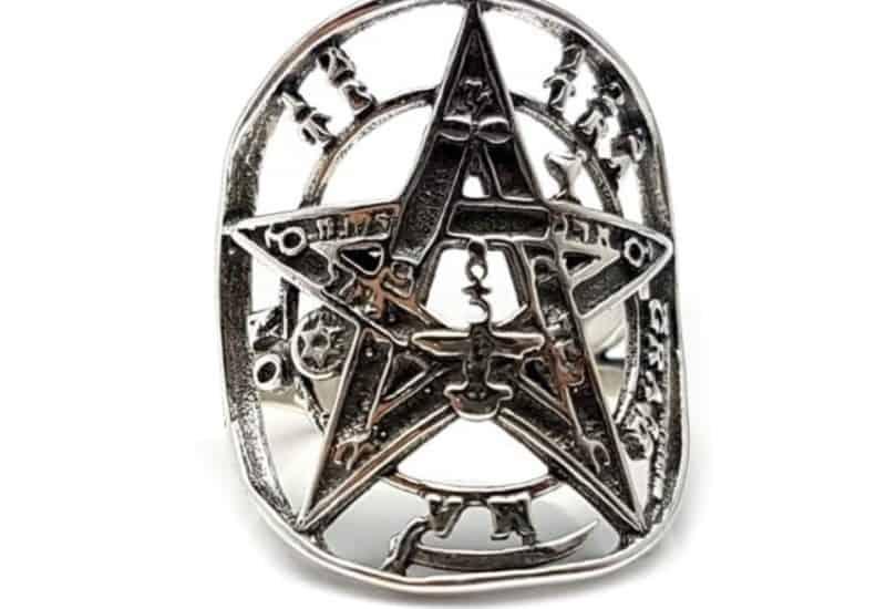 Anillo tetragramatón de plata