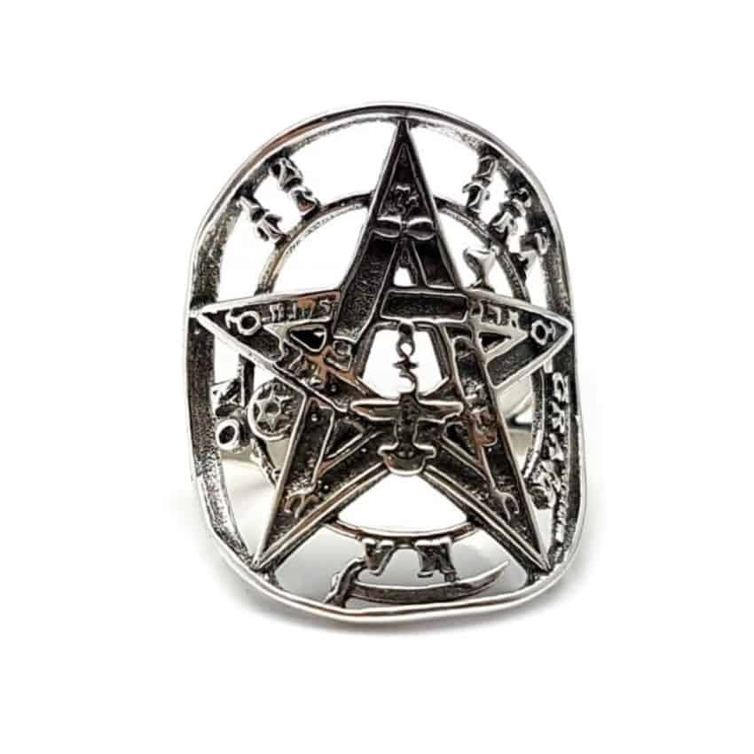 anillo tetragramaton plata
