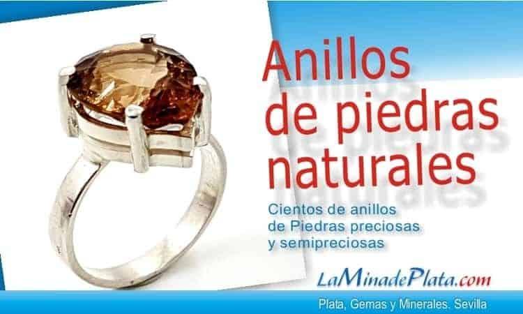 anillos de piedras naturales