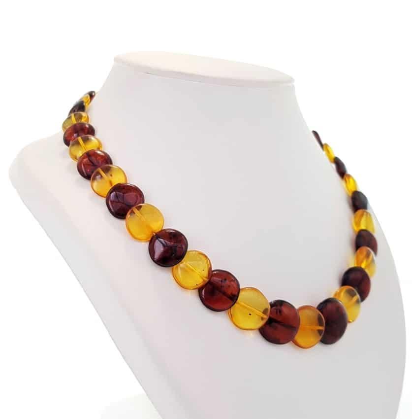 collar lentejas de ámbar de dos colores (4)