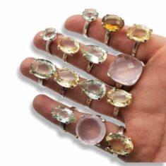 Anillos de piedras naturales. Sortijas de piedras preciosas y semipreciosas.