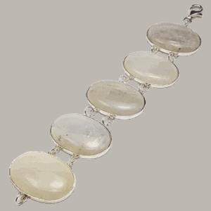 Pulsera de plata de ley 925 mls y Piedra Luna