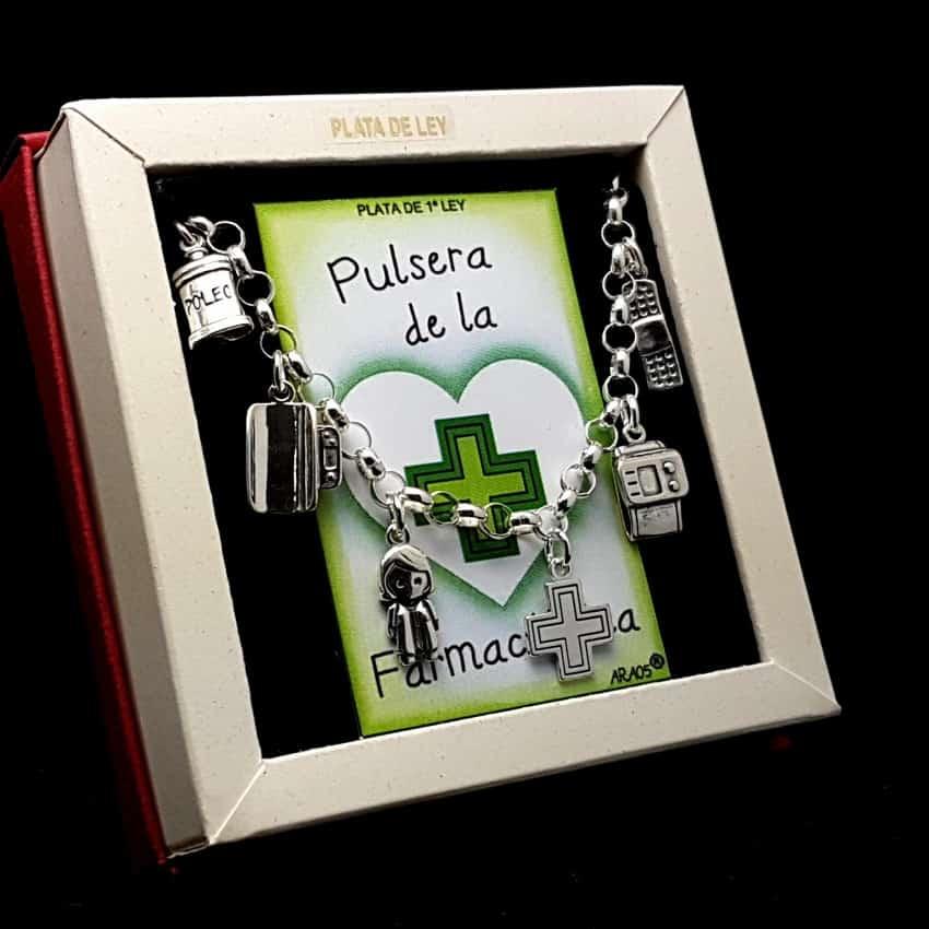 Pulsera de la Farmacéutica en plata.
