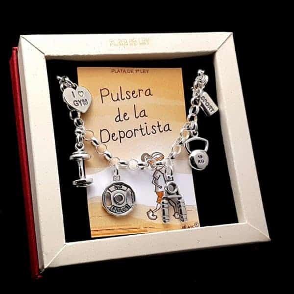 Pulsera de la Deportista en plata.