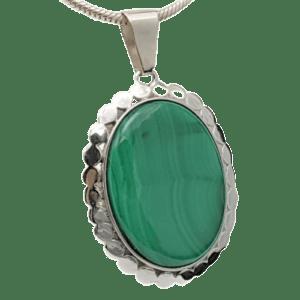 Colgante de Malaquita fabricado en plata