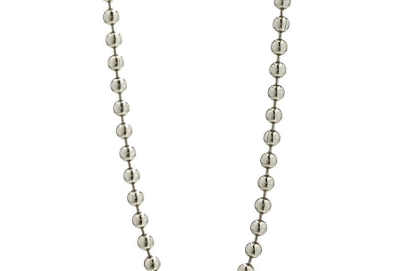 Cadena en Plata de Ley 925 mls – 45 cm, bolas de 2 mm