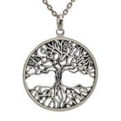 Colgante árbol de la vida con raices y copa calada en plata (2)