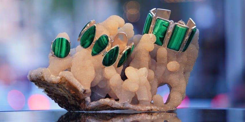 Joyas de malaquita, pulseras y anillos - copia
