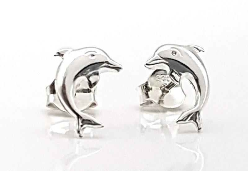 Pendientes de Plata de Ley 925 mls- Delfín
