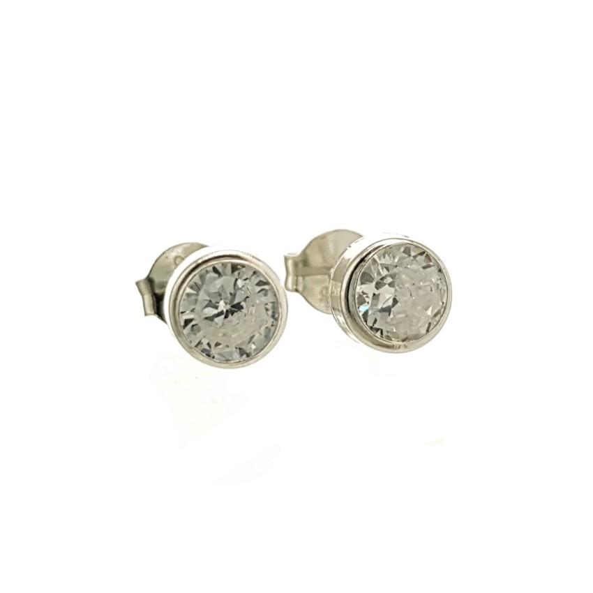 Pendientes mini circonitas en plata (2)