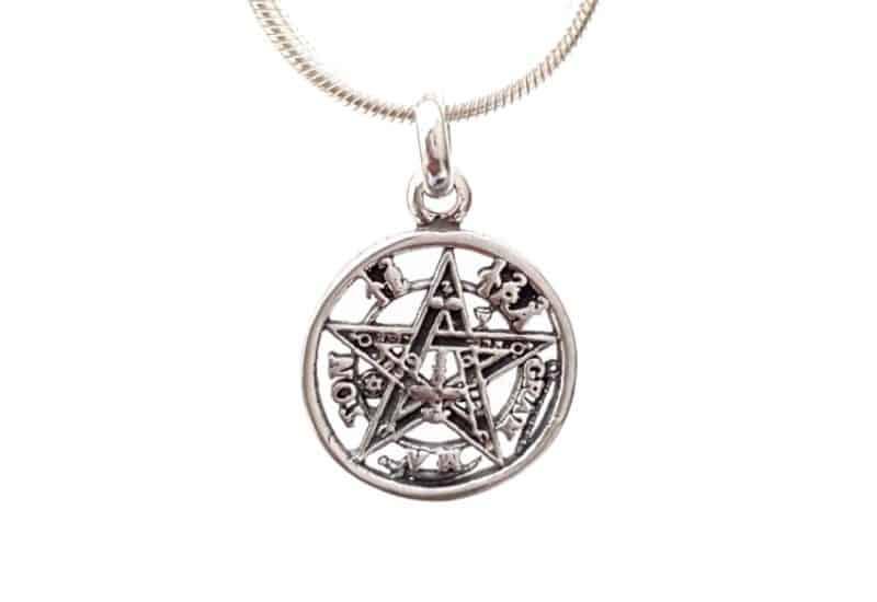 Colgante Tetragramatón en Plata de Ley 925 mls