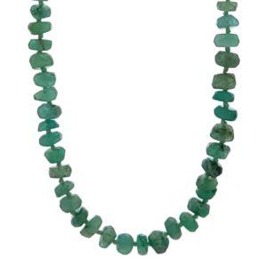 Collar de piedras auténticas de esmeralda natural de Brasil