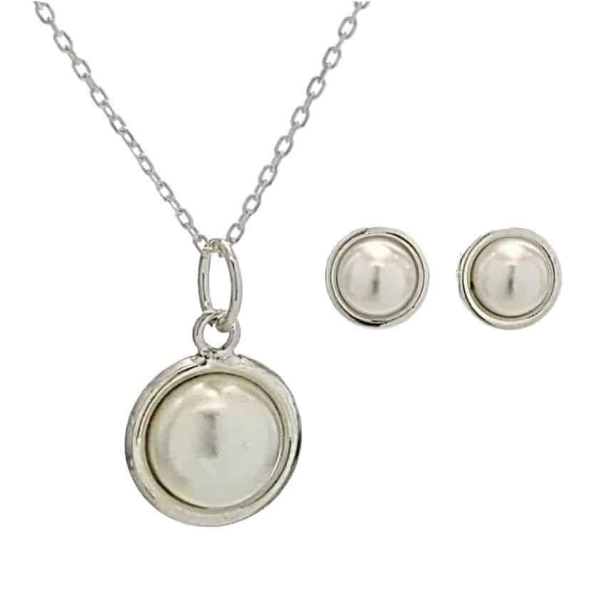 conjunto perlas en plata 925