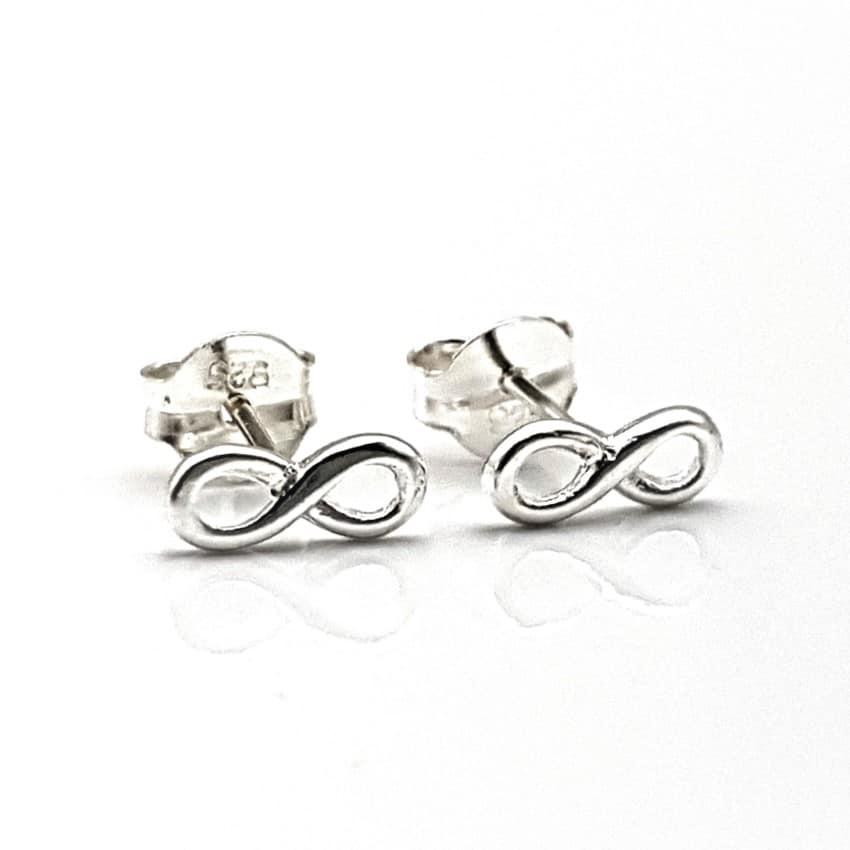 pendientes infinito de plata