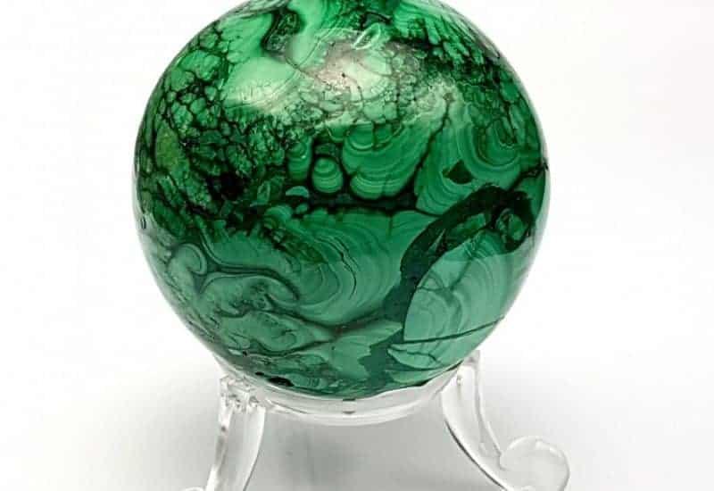 Bonita esfera de Malaquita