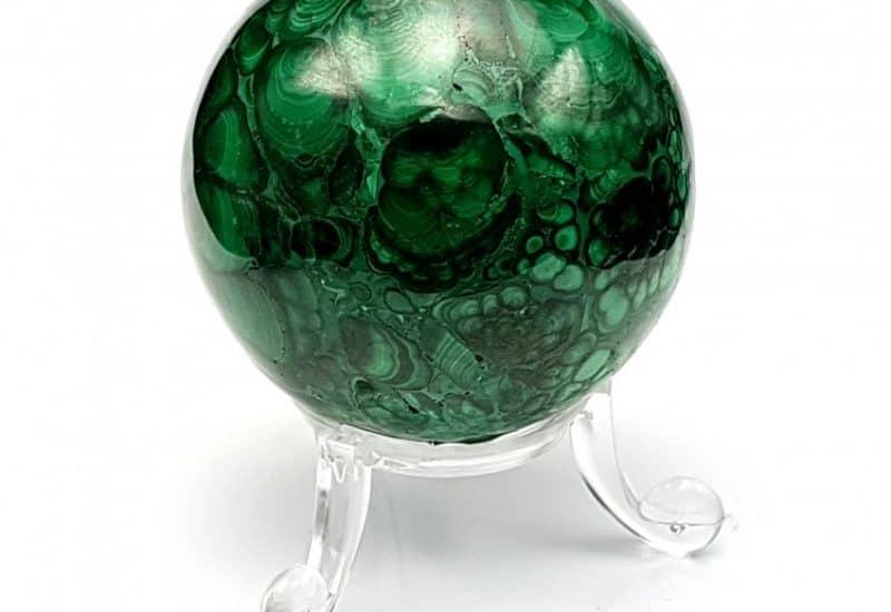 Preciosa esfera de Malaquita