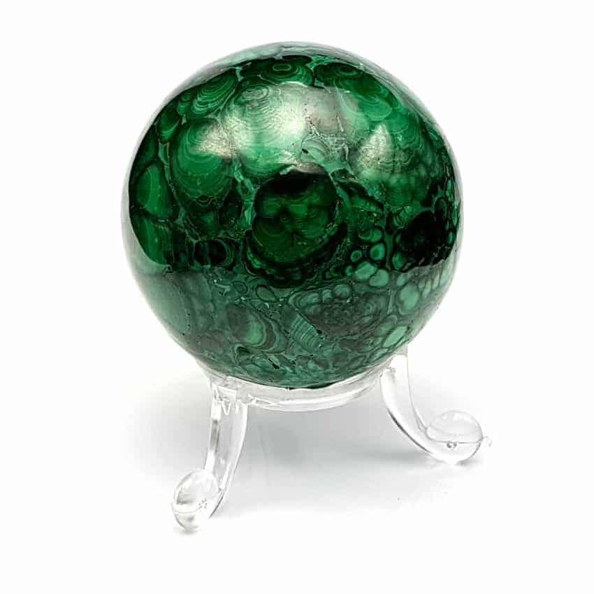 Esfera de malaquita.