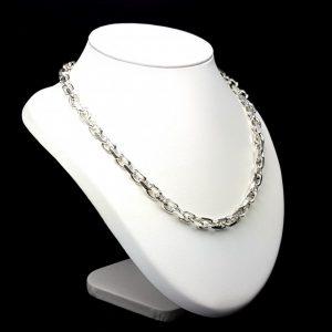 112992ea7b0f Cadena Forzada de 50 cms. fabricada en plata de ley. Cierre de mosquetón.  Largo cadena abierta  50 cm. Peso de la cadena  74.6 gramos. Medidas .