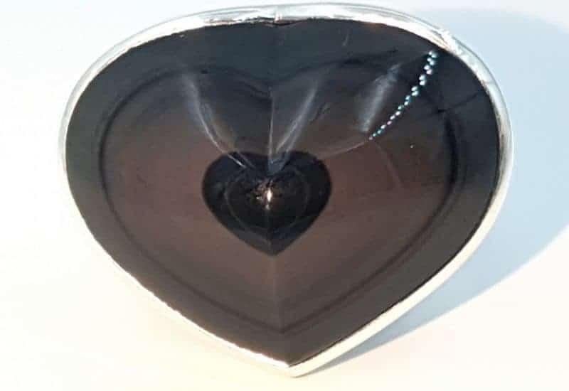 Anillo de Obsidiana Arcoíris fabricado en plata de ley 925 mls