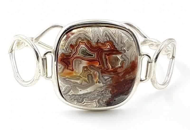 Preciosa pulsera de Ágata Crazy fabricada en plata de ley