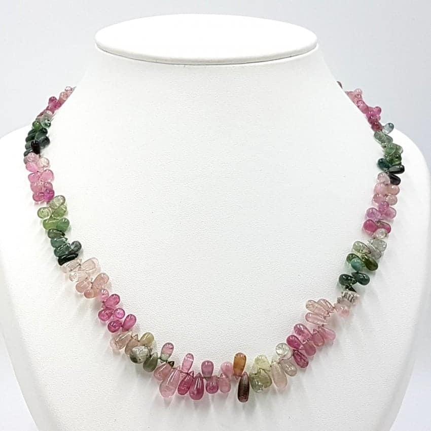 Collar de Turmalina rosa (rubelita), verde (verdelita) y turmalina sandía