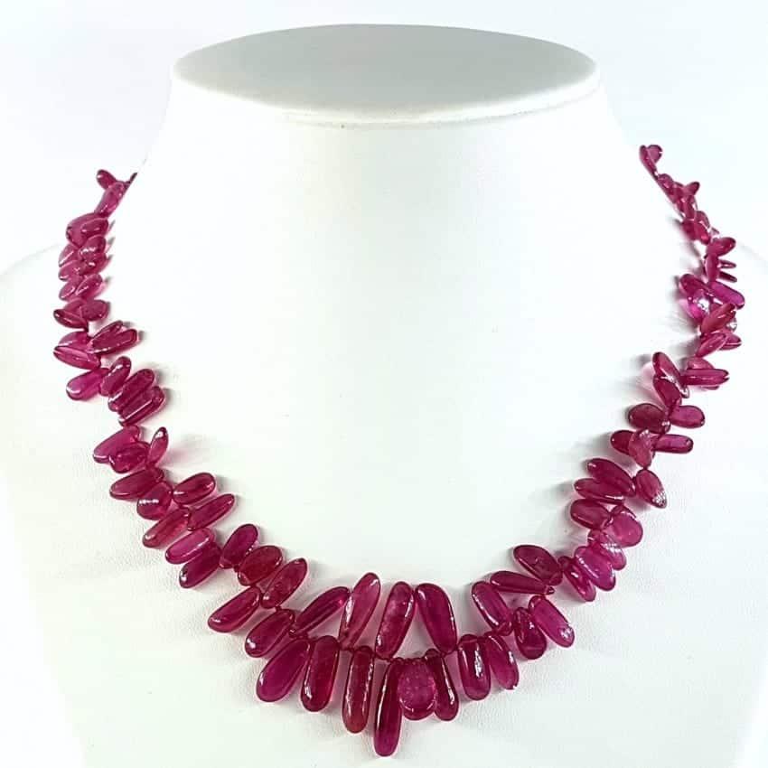Collar de Turmalina rosa (rubelita)