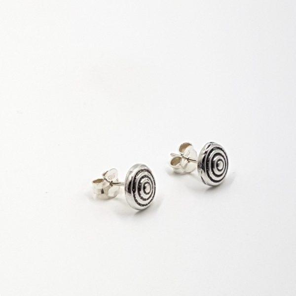 Pendientes espiral en plata