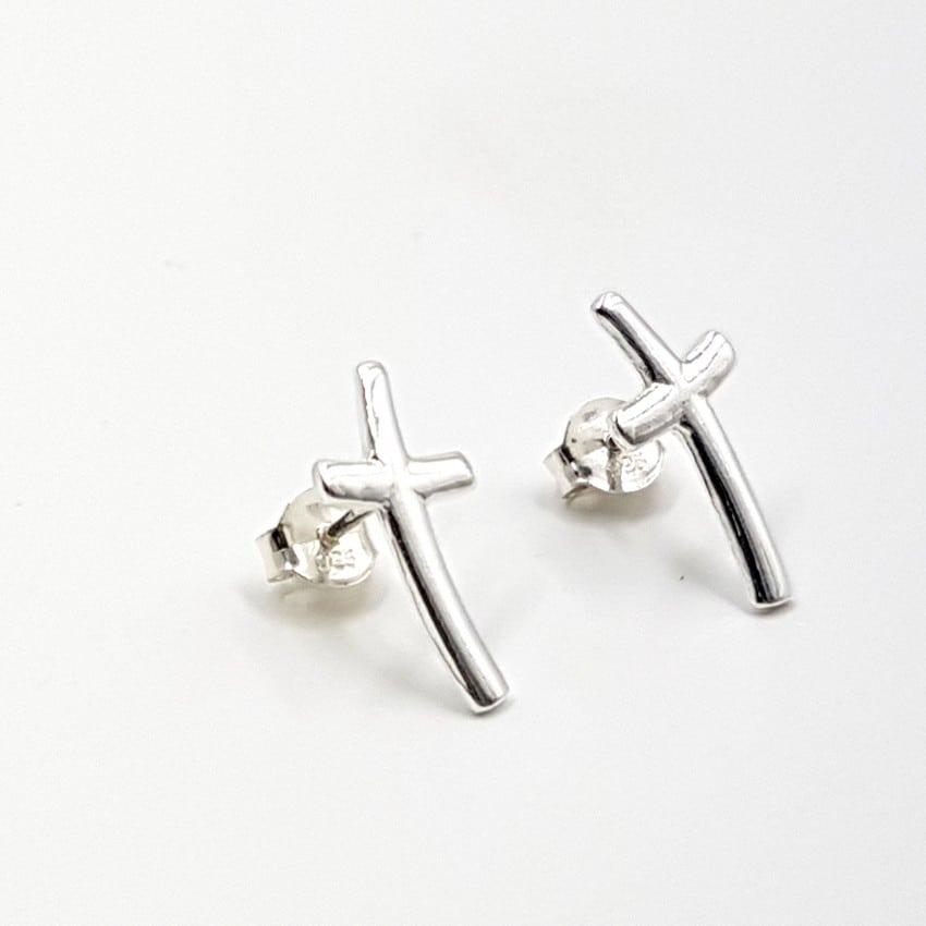 Pendientes con cruces en plata