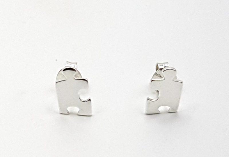 Pendientes de Plata de Ley 925 mls- Pieza de Puzzle