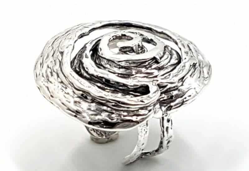 Anillo fabricado en Plata de Ley espiral Koru