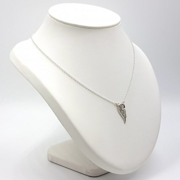 Colgante ala + gargantilla en plata