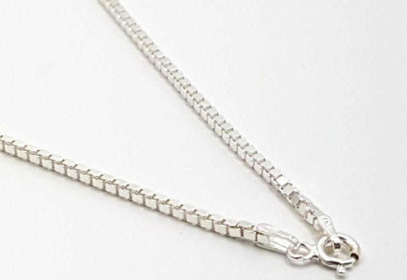 Cadena de Plata de Ley 925 mls – Veneciana 45 cm, grosor 1.5 mm