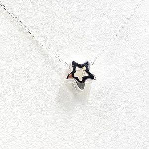 Colgante estrella + gargantilla en plata