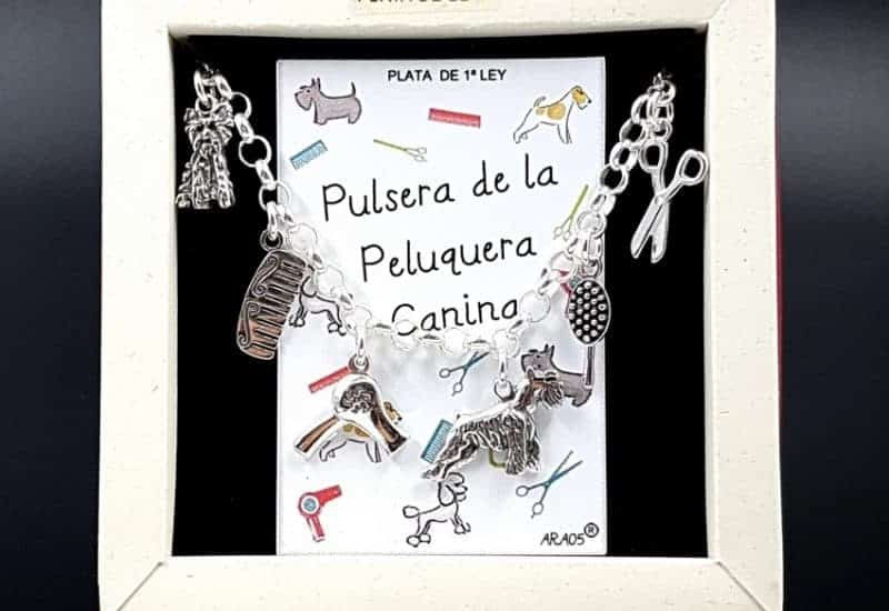 Pulsera de La Peluquera Canina fabricada en plata de ley
