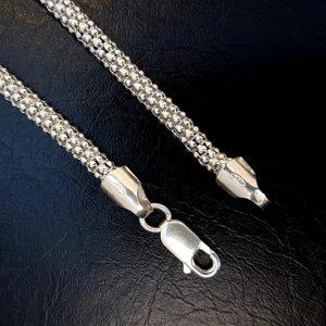 cadena de plata coreana