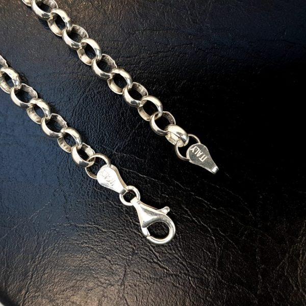 cadena de plata rolo