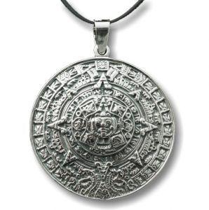 Calendario Azteca fabricado en plata