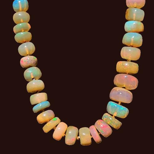 Collar de Ópalo de Etiopía de 50 centímetros