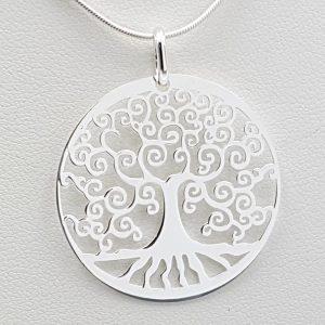 Colgante árbol de la vida en plata de ley