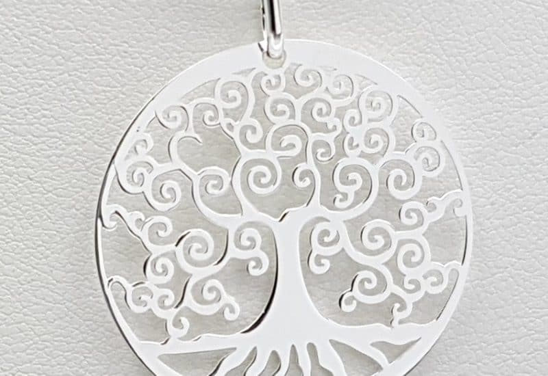 Colgante Árbol de la Vida fabricado en plata