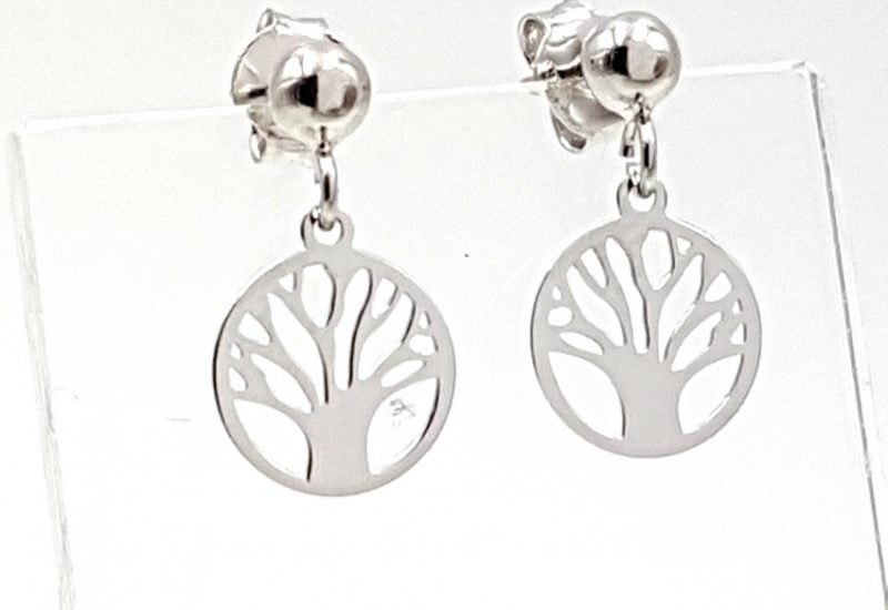 Pendientes árbol de la vida fabricados en plata de ley