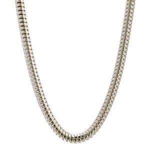 Cadena TOPO de 2 mm. grosor x de 80 cm de largo en plata 925