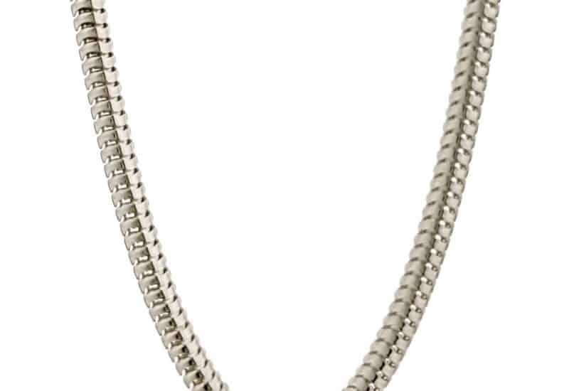 Cadena TOPO de 70 cm de largo fabricada en plata de ley