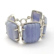Pulsera exclusiva calcedonia azul (7)