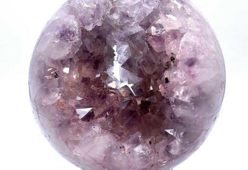 Esfera con geoda interior de Cuarzo Amatista