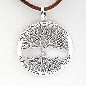Colgante con árbol de la vida en plata