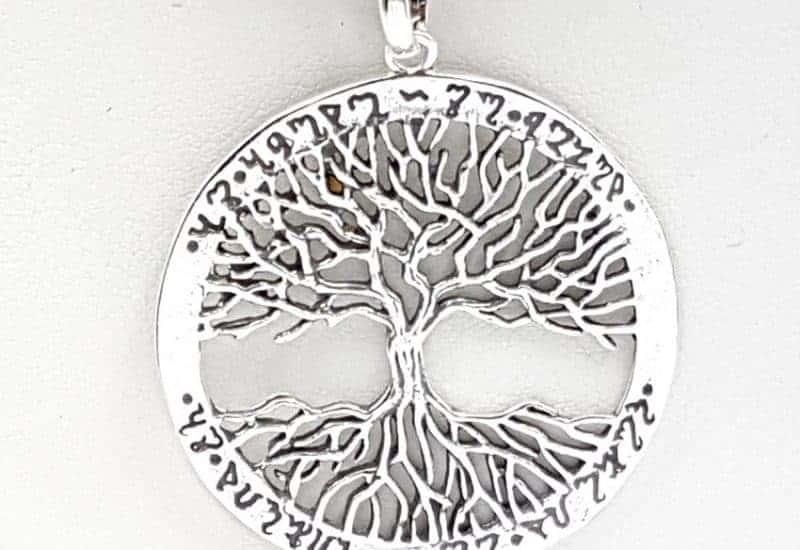 Colgante con árbol de la vida en plata de ley