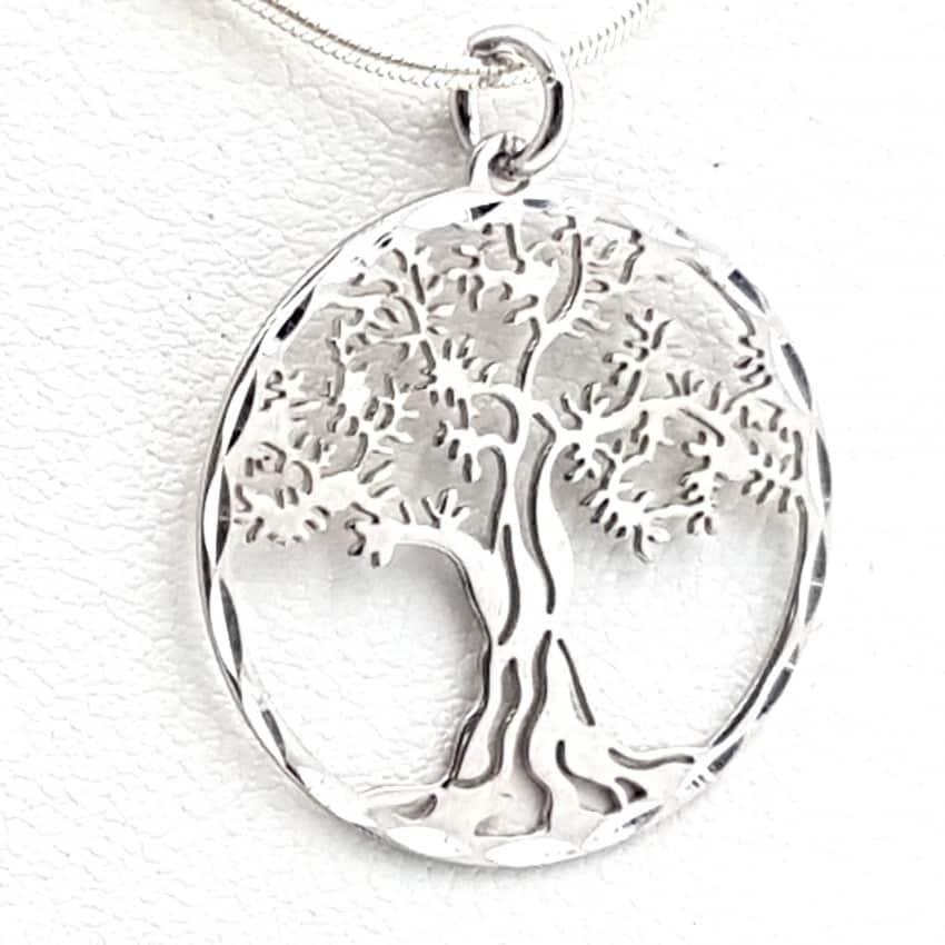 Colgante árbol de la vida de plata