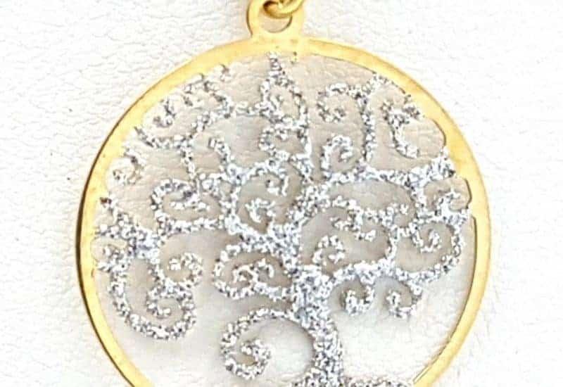 Colgante de plata con baño de oro – Árbol de la vida
