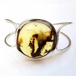 Pulsera de Ámbar fabricada en plata